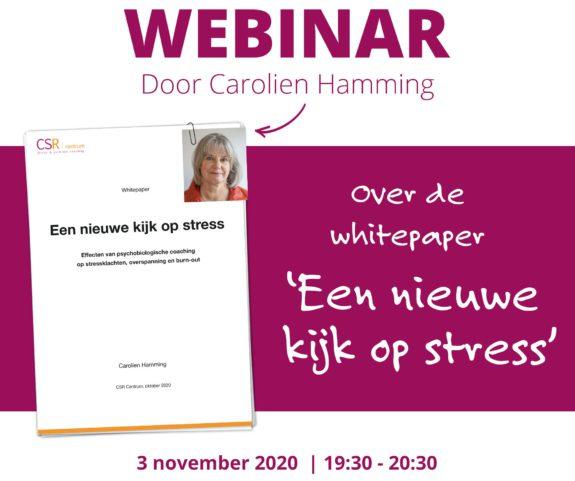 Webinar over whitepaper Een nieuwe kijk op stress